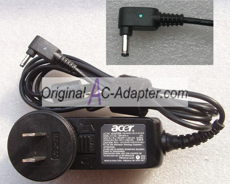 Acer 12V 1.5A 3.0mm x 1.0mm Power AC Adapter