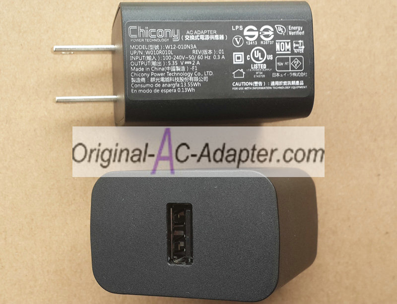 Chicony W010R011L 5.35V 2A Power AC Adapter