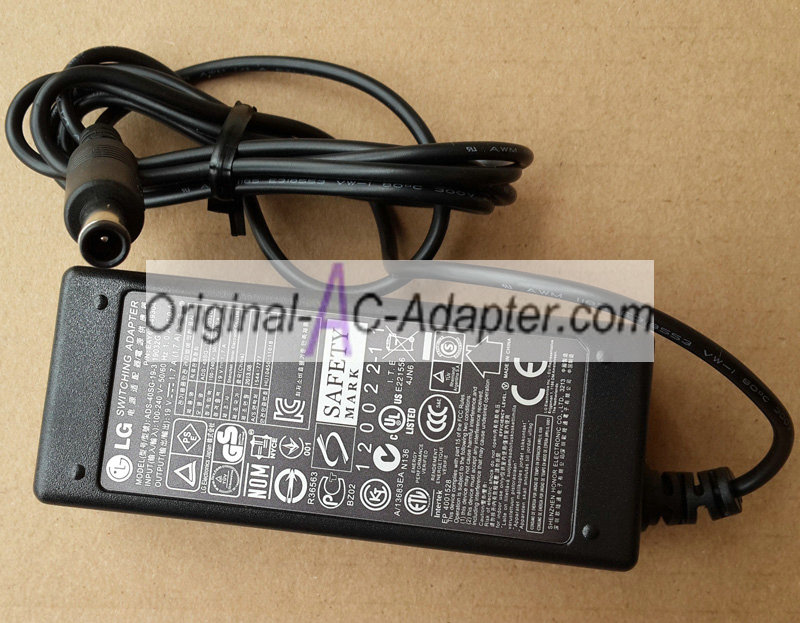 LG 24EN43T 19V 1.7A Power AC Adapter