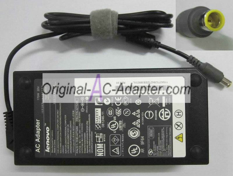 Lenovo 20V 8.5A For Lenovo ThinkPad W530/24382HU Power AC Adapter