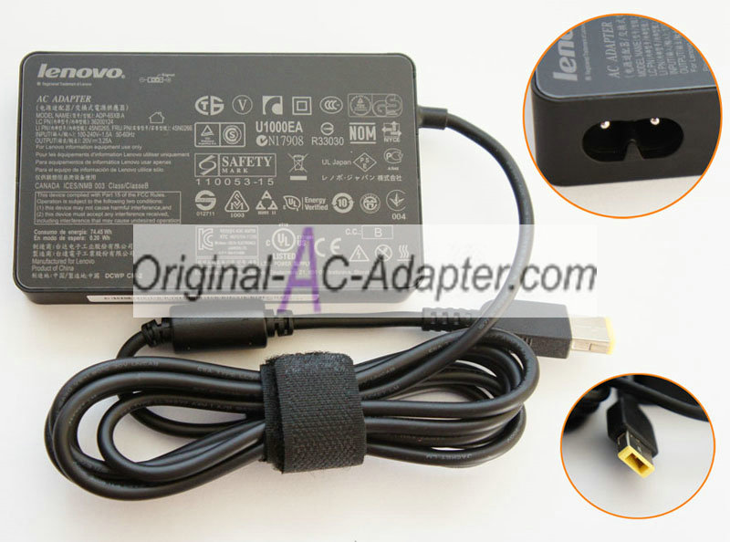 Lenovo 20V 3.25A 65W Square interfaces with pin Power AC Adapter