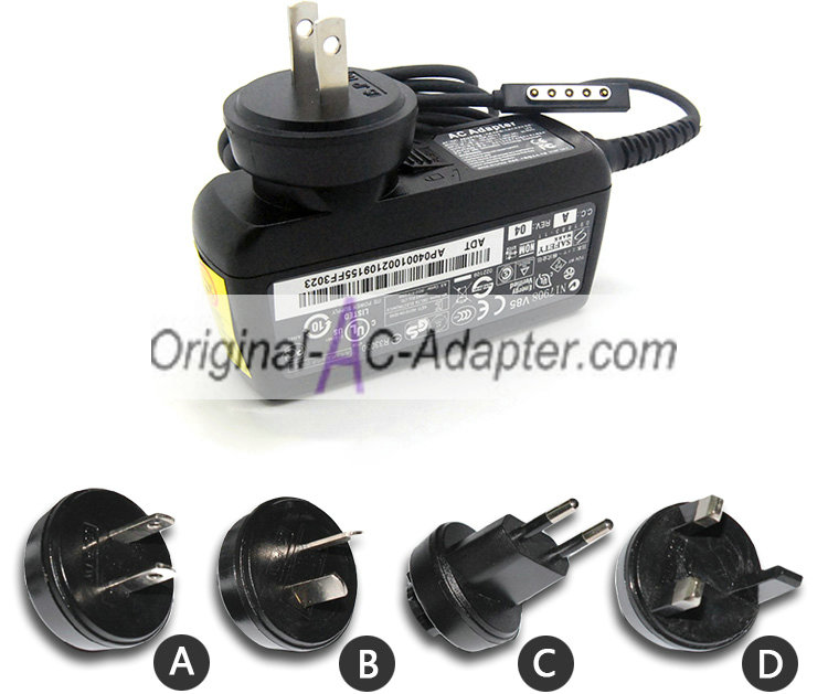 Microsoft 12V 3.6A For MicrosoftModel 1601 Power AC Adapter