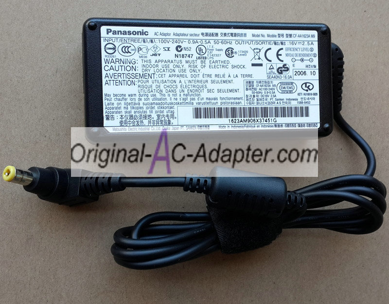 Panasonic 16V 2.5A For Panasonic CF-T3 Power AC Adapter