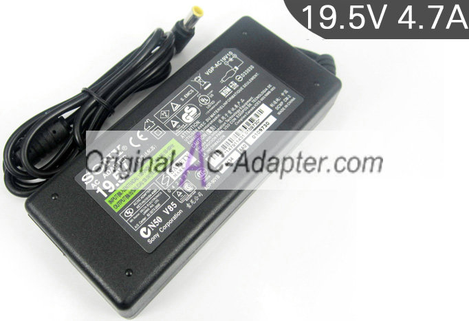 Sony 19.5V 4.7A For Sony Vaio PCG-R Series Power AC Adapter